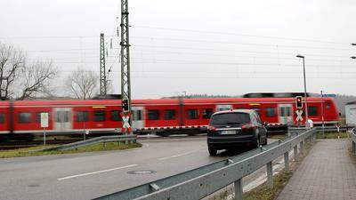 Bahnübergang Häcker in Weingarten