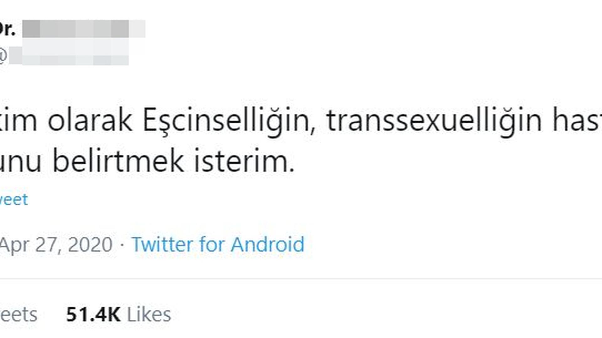 Der ursprüngliche Tweet, der erst nach mehr als 24 Stunden gelöscht wurde.