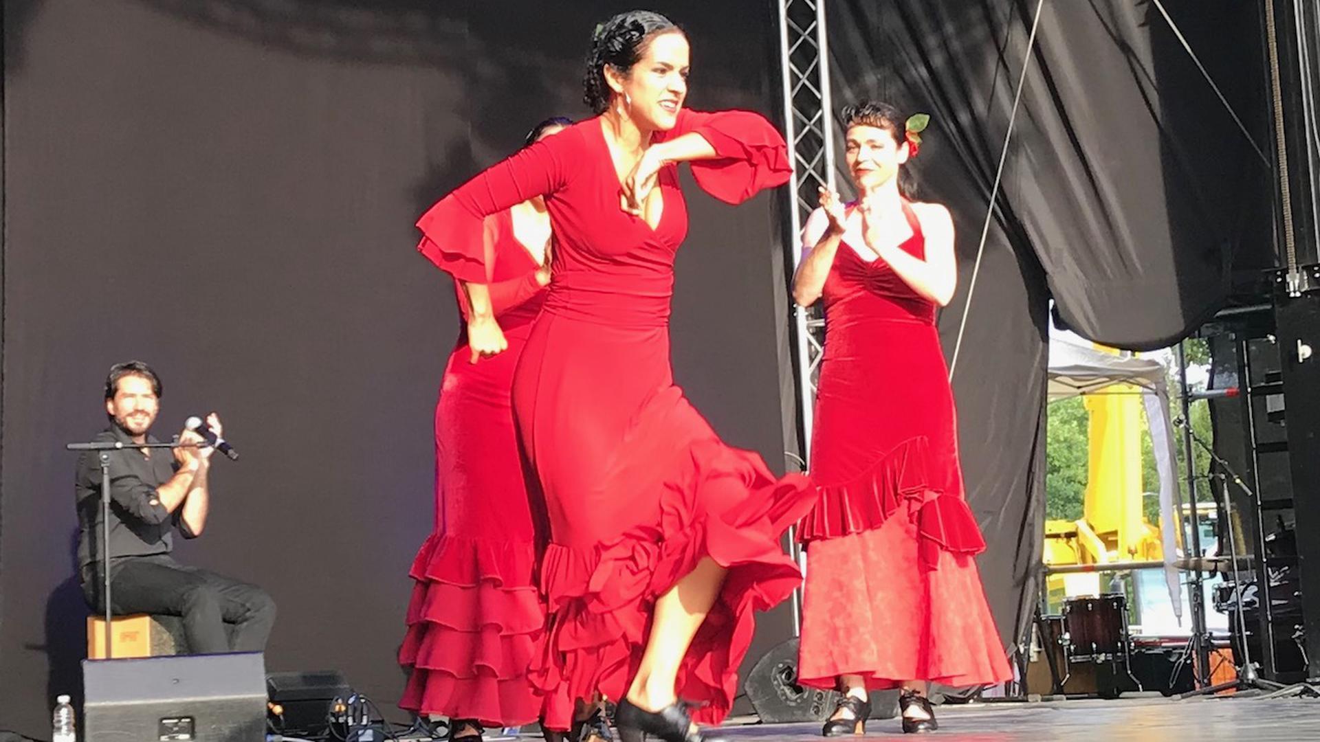 Die Tänzerinnen der Compania Dulce Amargo präsentierten schwungvollen Flamenco.