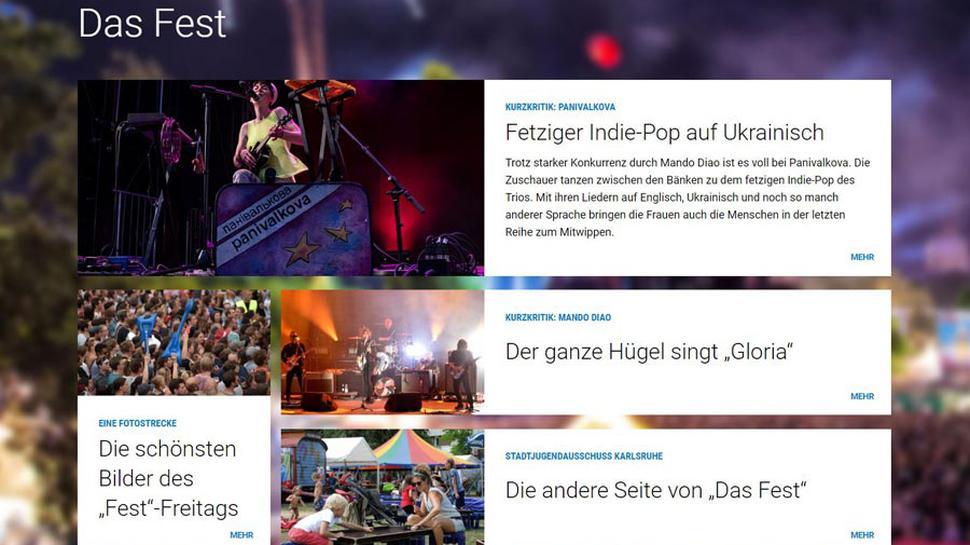 """Das Fest""-Dossier am Freitag Abend."