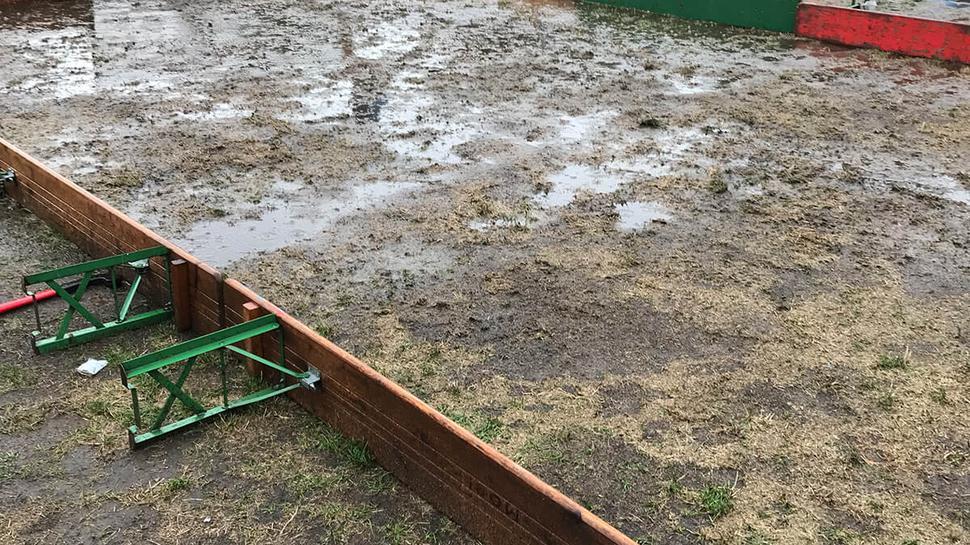 Regenschlacht im Kinderbereich