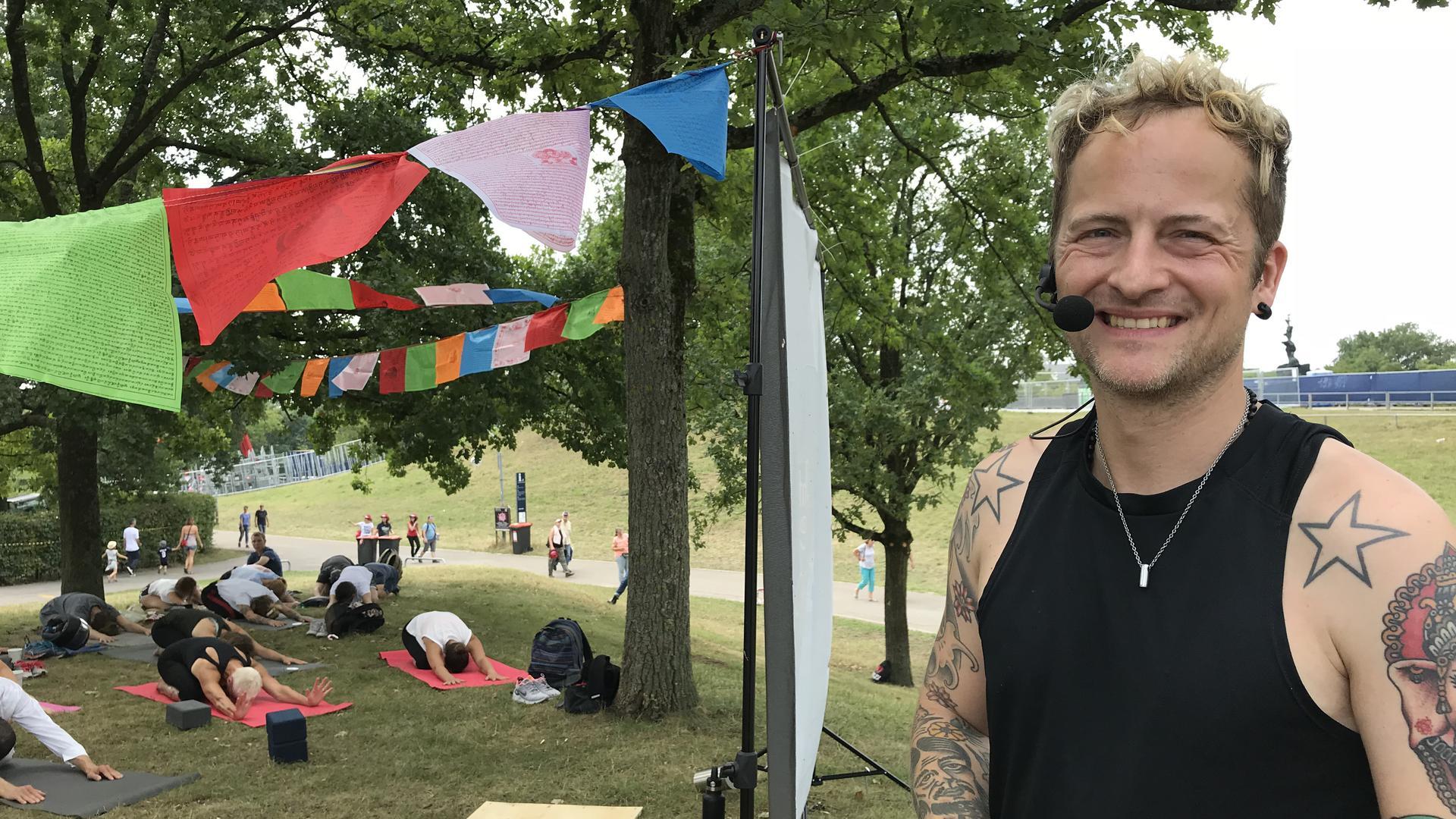 """Für Yoga im Sportpark bei """"Das Fest"""" sorgt in diesem Jahr erstmals Blogger Thomas Meinhof."""