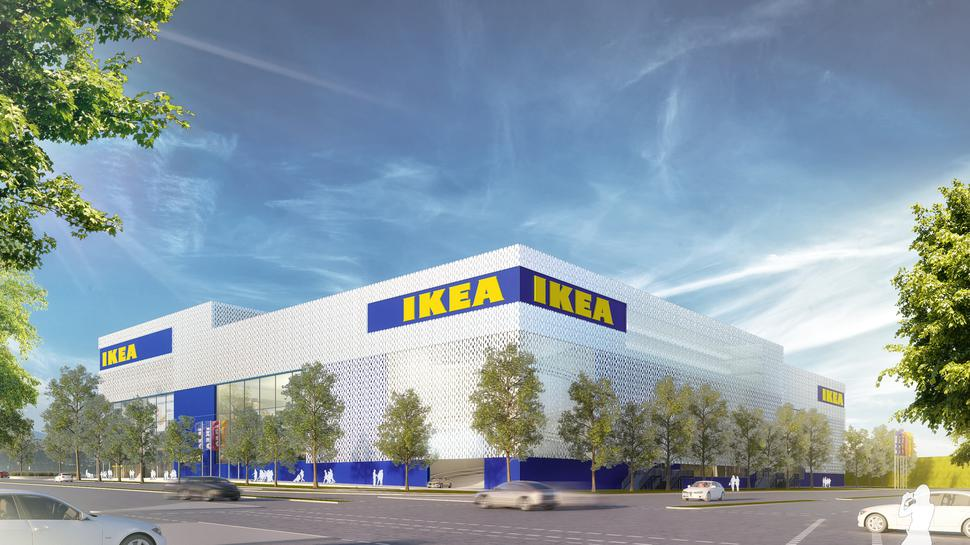 Die neue Ikea-Filiale in Karlsruhe in der Computersimulation.