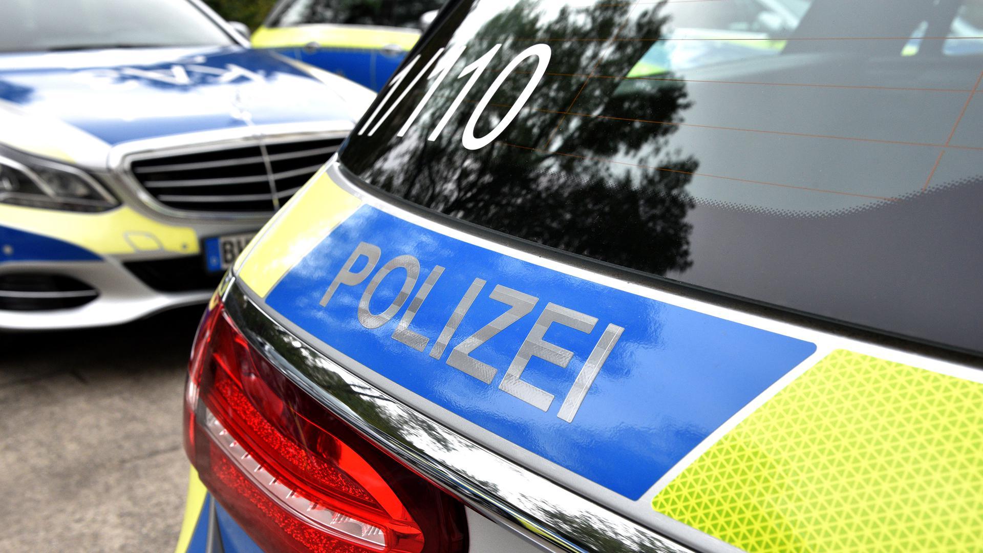 Mehrere Polizeiautos stehen auf einem Parkplatz. (Symbolbild)