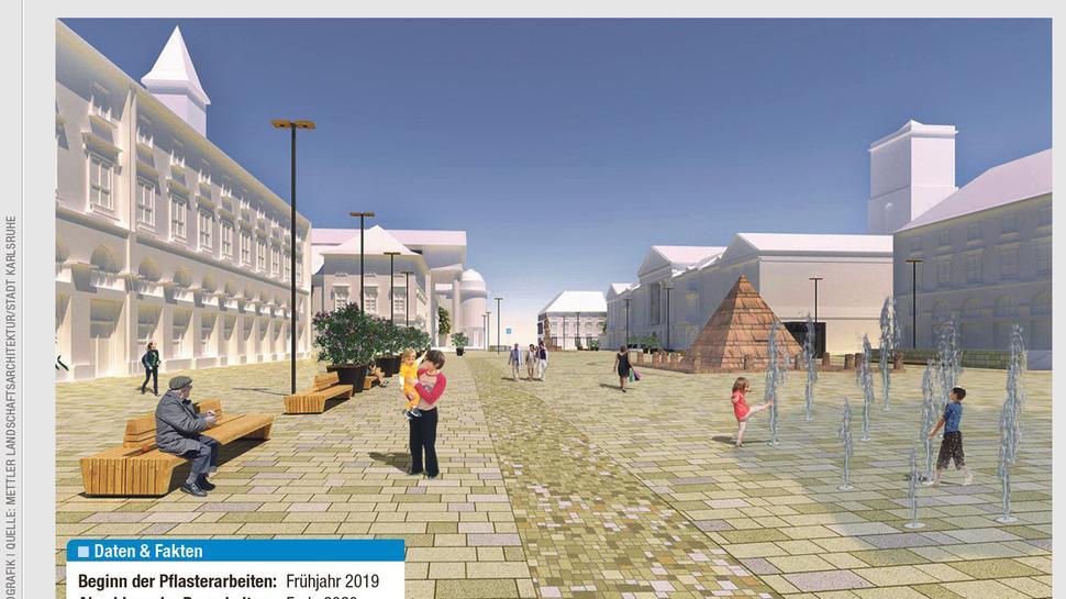 So soll der Karlsruher Marktplatz in Zukunft aussehen.