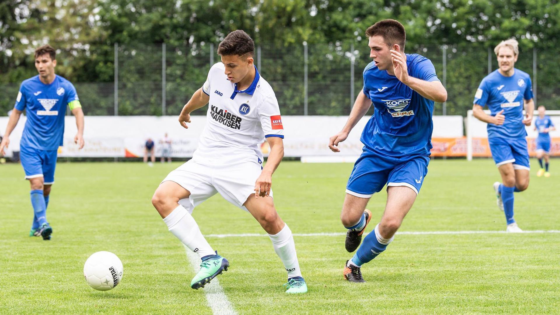 Valentino Vujinovic (19) verlässt den KSC.