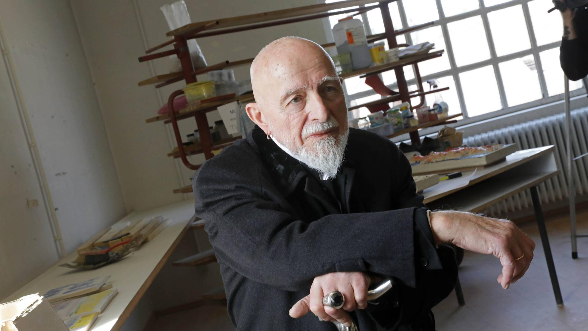 Markus Lüpertz Start des Projekts Majolika