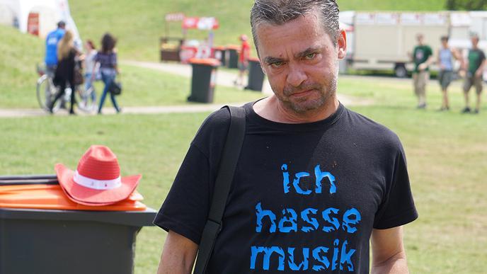 "T-Shirt ""ich hasse Musik"""