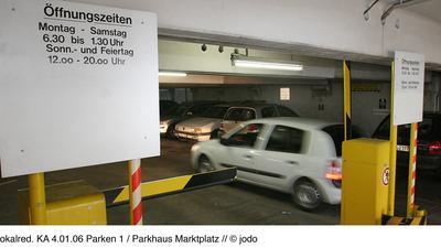 Parkhaus Öffnungszeiten Parken