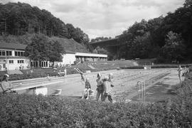 Das Freibad Wolfartsweier in den 1970er Jahren