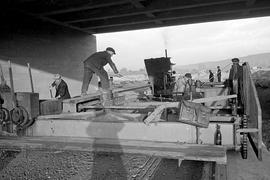 Autobahnbau Karlsruhe 50er-Jahre