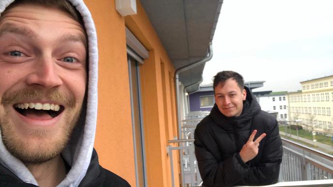 Mit Nico Traut traf sich Alessandro Pola immer auf dem Balkon zu einem Kaffee.