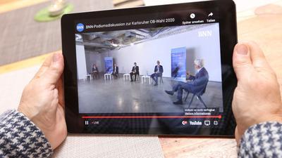 Live-Übertragung: Einen Eindruck der von den Fraktionen unterstützten Kandidaten konnten sich die Bürger beim BNN-Forum zur Oberbürgermeisterwahl verschaffen.