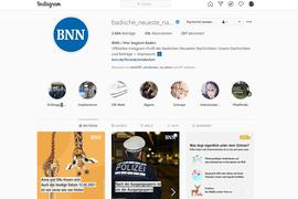 Der Instagram-Account der Badischen Neuesten Nachrichten hat inzwischen über 30.000 Abonnenten.