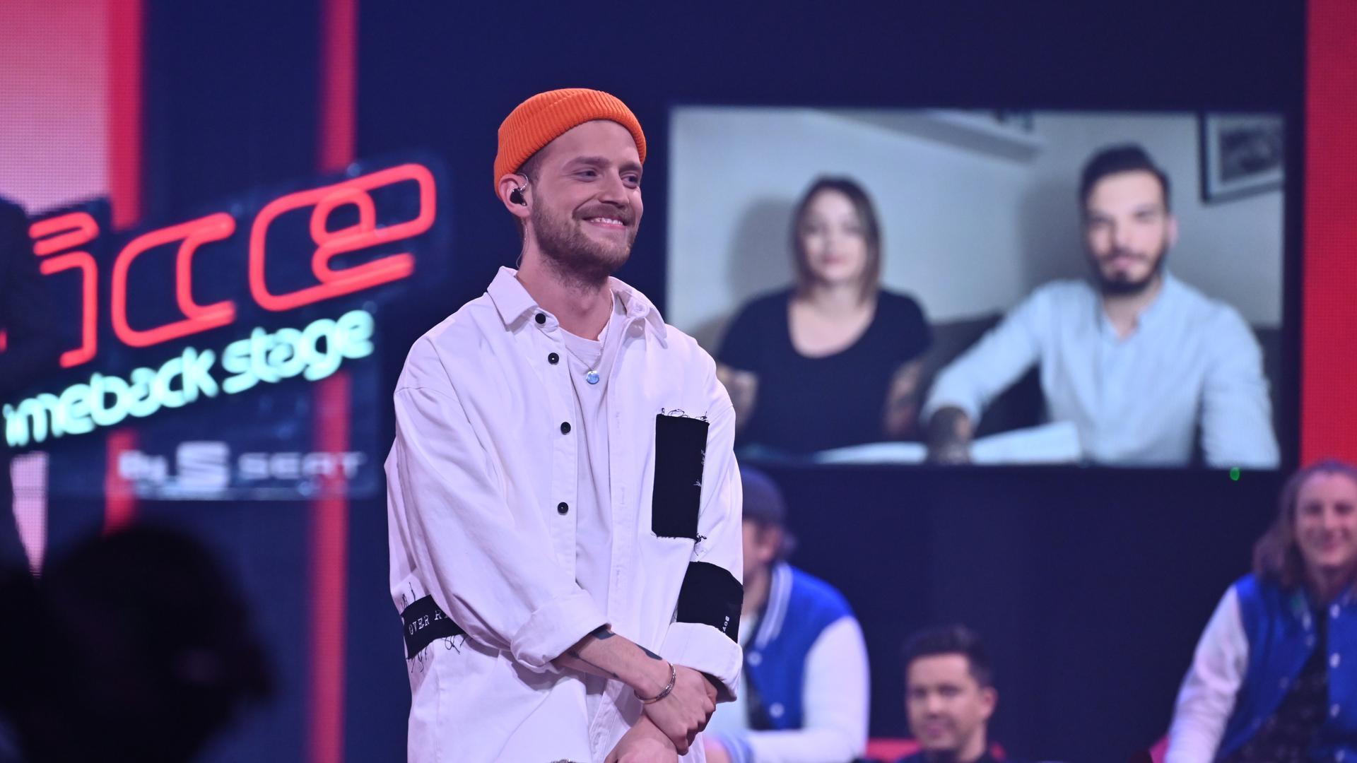 """Der Sänger Alessandro Pola aus Karlsruhe kommt bei """"The Voice"""" immer sehr entspannt rüber."""