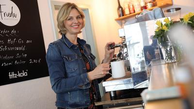 """Saskia Spaderna ist Chefin des Café """"Frieda""""."""