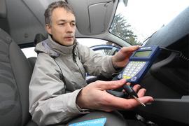 27.03.2009 Stadtmobil Karlsruhe mit Frank Ratzel, Mitglied der Geschäftsführung