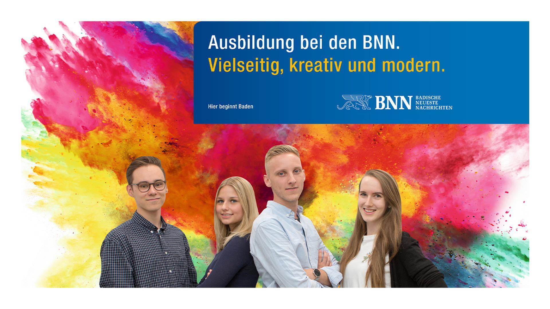 Ausbildung bei den BNN. Vielseitig, kreativ und modern.
