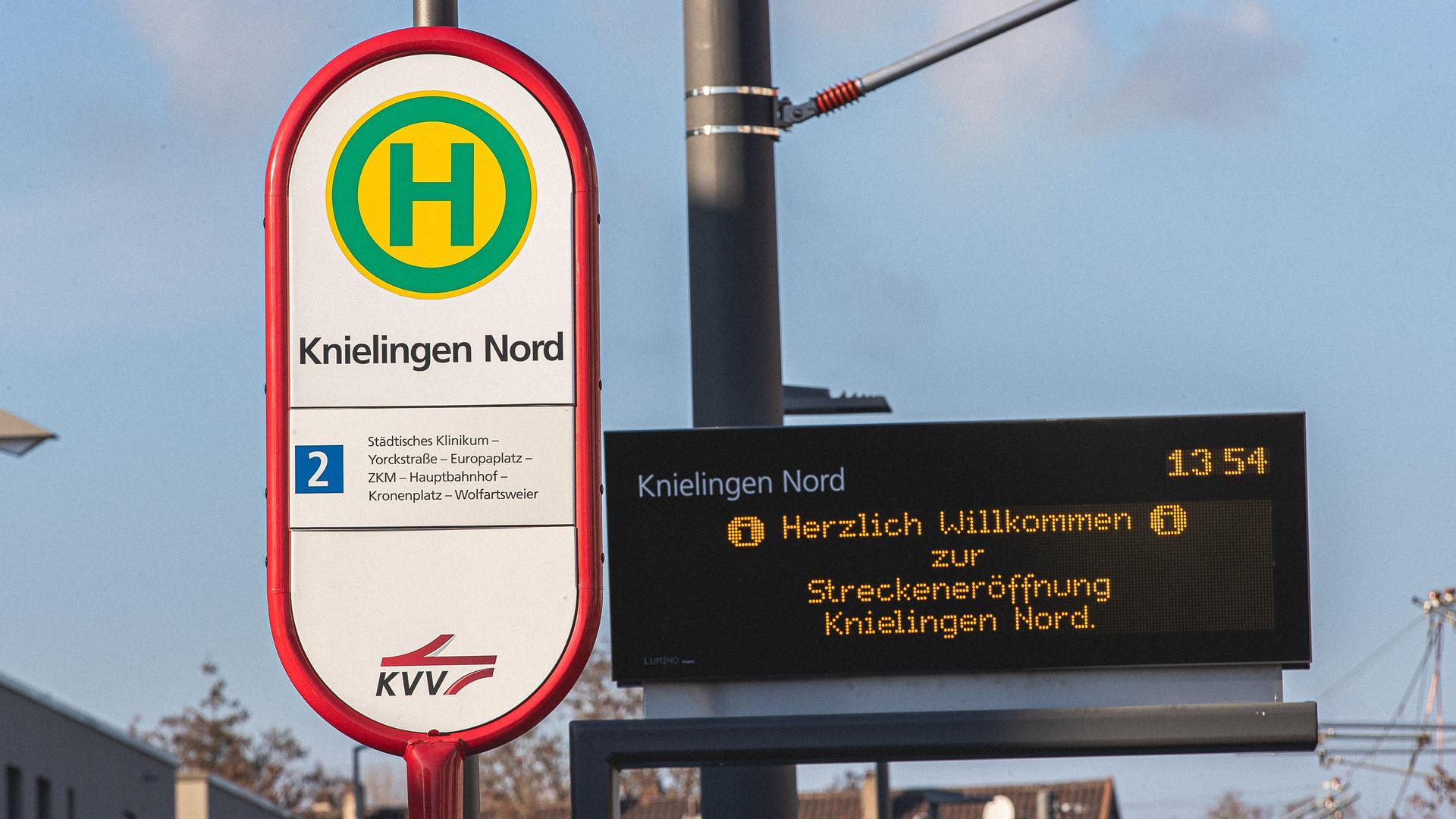 Der Anschluss beginnt und endet vor der Tür: Die Linie 2 fährt künftig bis nach Knielingen-Nord und bindet das dortige Neubaugebiet an das Tramnetz von Karlsruhe an.