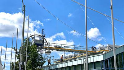 21.06.2021 Sanierungsarbeiten der Europahalle beginnen