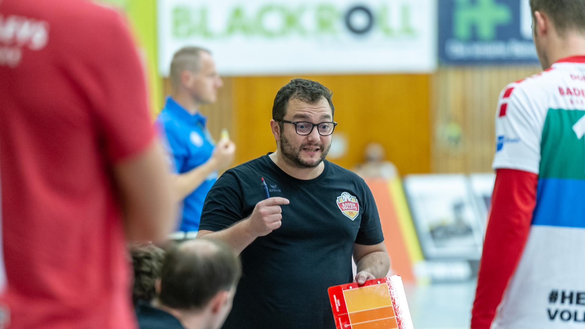 Trainer Antonio Bonelli (SSC Karlsruhe)   GES/ Volleyball/ 2. Bundesliga-Sued: Baden Volleys SSC Karlsruhe - Volleys Leipzig 12.09.2020 --