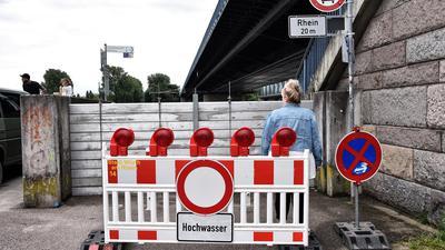 14.07.2021 Sommer Hochwasser Rhein Maxau