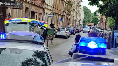 Großeinsatz in der Karlsruher Südstadt.