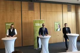 Von links: FDP-Chef Hendrik Dörr, Sven Weigt, CDU-Chef Ingo Wellenreuther