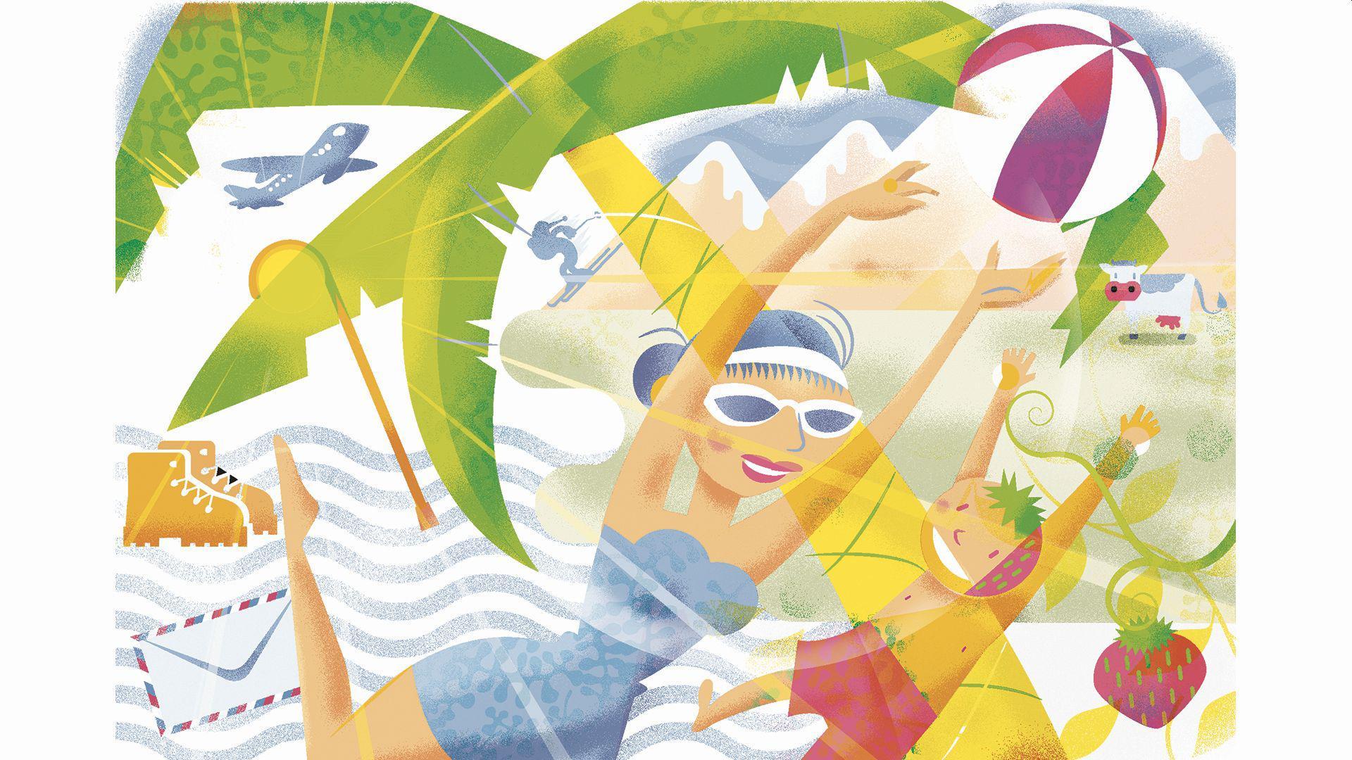 """Sommer, Sonne, Strand und Wanderstiefel: Die BNN haben Lesergeschichten zu """"unvergesslichen Urlaubsmomenten"""" gesucht."""