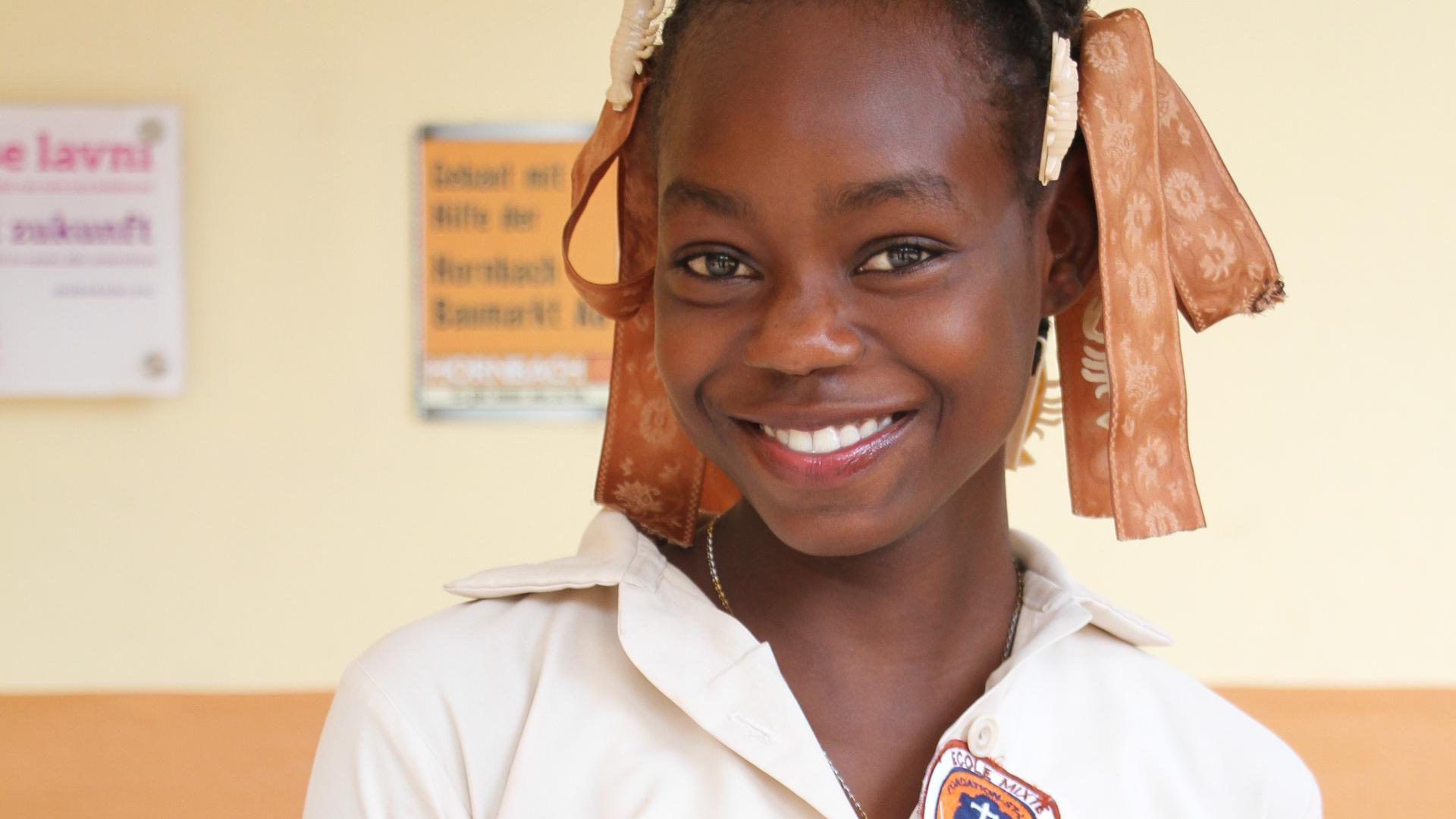 Labady Rutchina besucht derzeit die achte Klasse der St. André Schule. Später möchte sie gerne als Krankenschwester arbeiten.