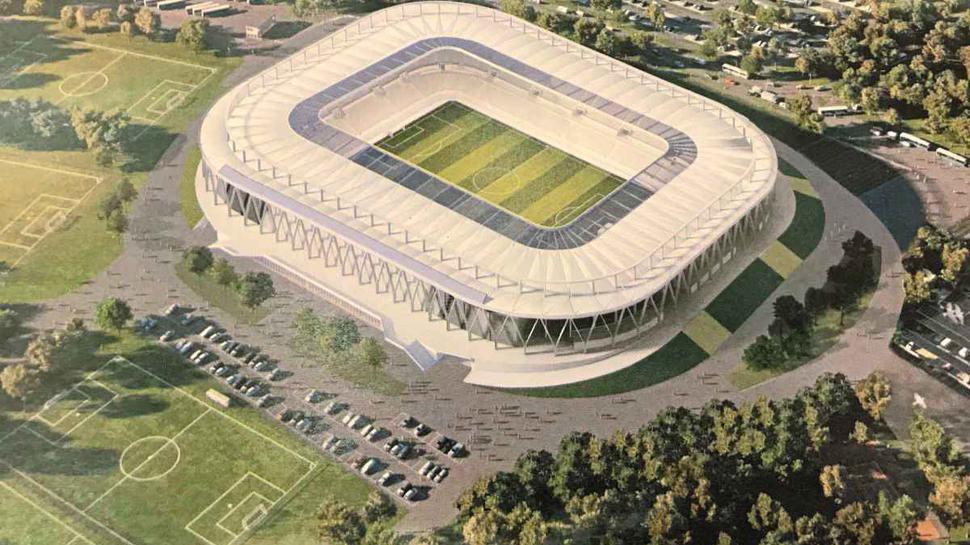 Laut dem Bauunternehmen BAM Sports soll das neue Wildparkstadion aussehen wie in dieser Grafik.