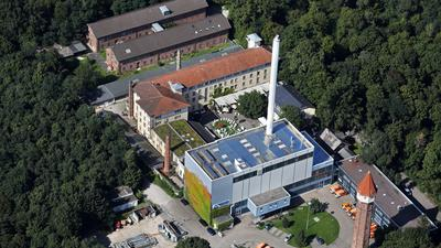 Majolika und Fernheizwerk Karlsruhe Luftbild vom 23.08.2017