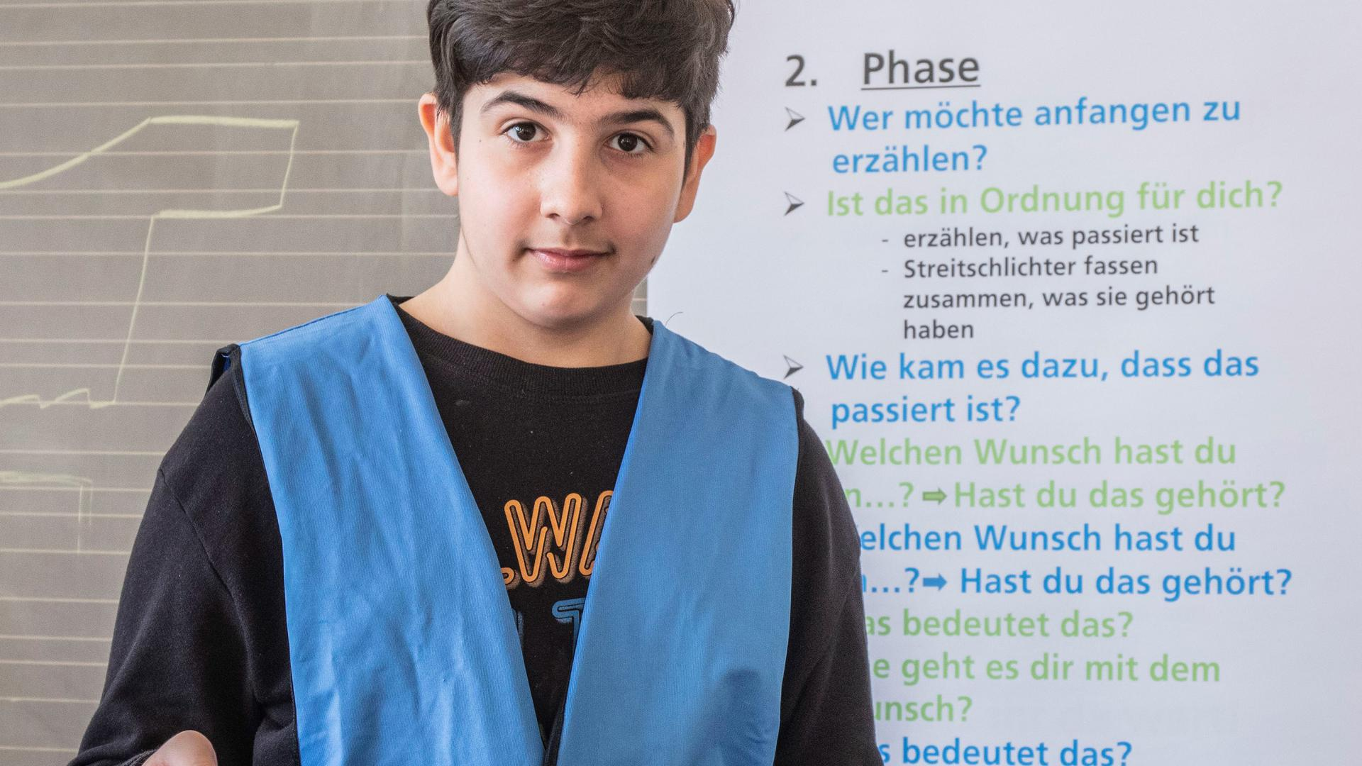 Schichtet Streit unter Schülern: Amin Ullah von der Lidellschule in Karlsruhe.