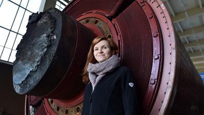 Umspannwerk der DB in Karlsruhe / Bulach: Michelle Müller, Elektromeisterin