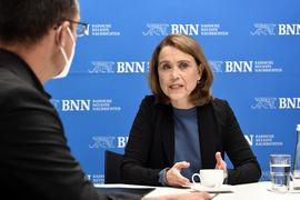 Zu Gast in der BNN-Redaktion: Interview mit Kunststaatssekretärin Petra Olschowski