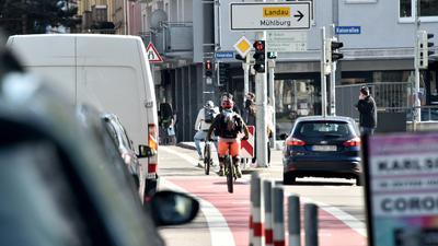 26.04.2021 Radfahren in Karlsruhe