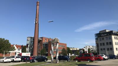 Wahrzeichen moderner Stadtentwicklung: Das ehemalige Kesselhaus in der Raumfabrik Durlach.