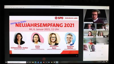 Web-Konferenz auf dem Bildschirm