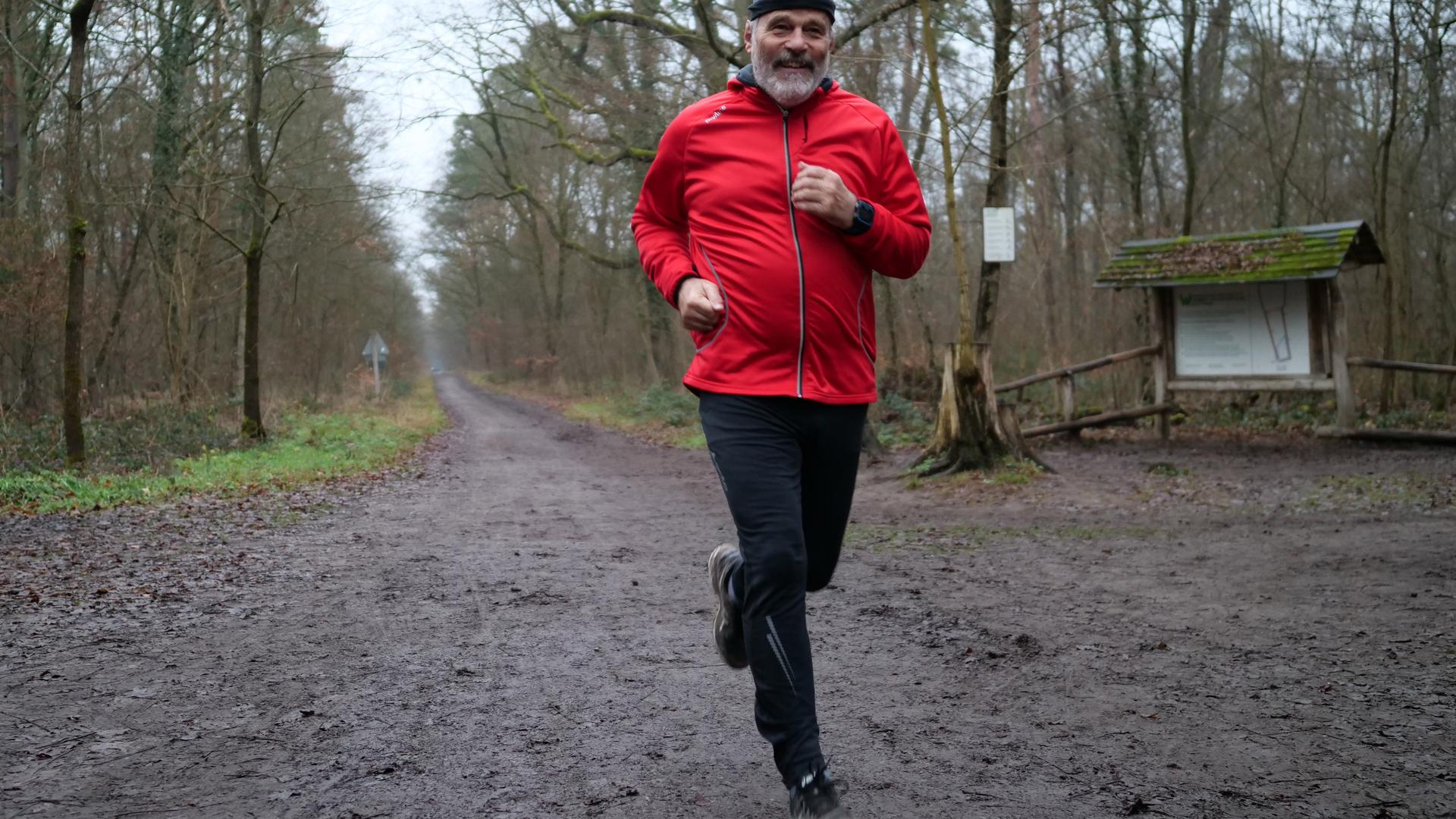 Joggen im Hardtwald Arno Stengel