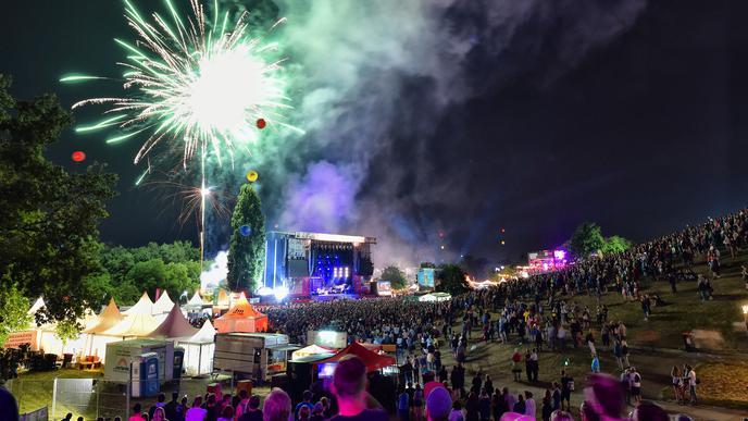 """Feuerwerk bei """"Das Fest"""""""
