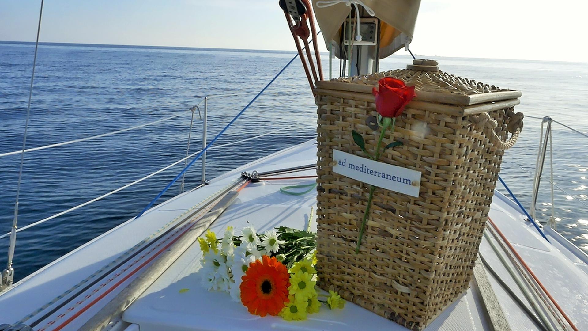 Letzte Reise: Wer sich dies wünschte, im Meer beigesetzt werden.