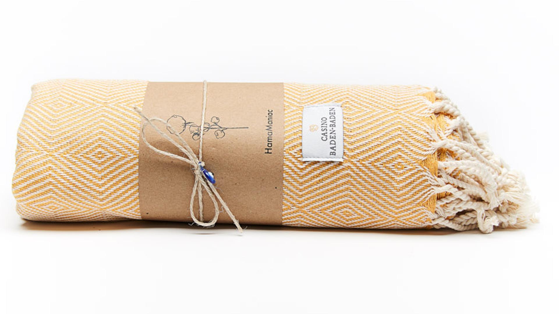 Edles Tuch: Das Hammantowel stammt aus einer kleinen türkischen Manufaktur.