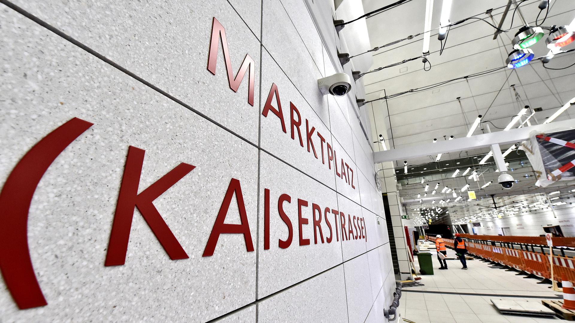 27.04.2021 Baustellentermin im Karlsruher Untergrund. Besichtigung der Fertigstellung des U-Strab Projektes mit KASIG Pressesprecher Achim Winkel