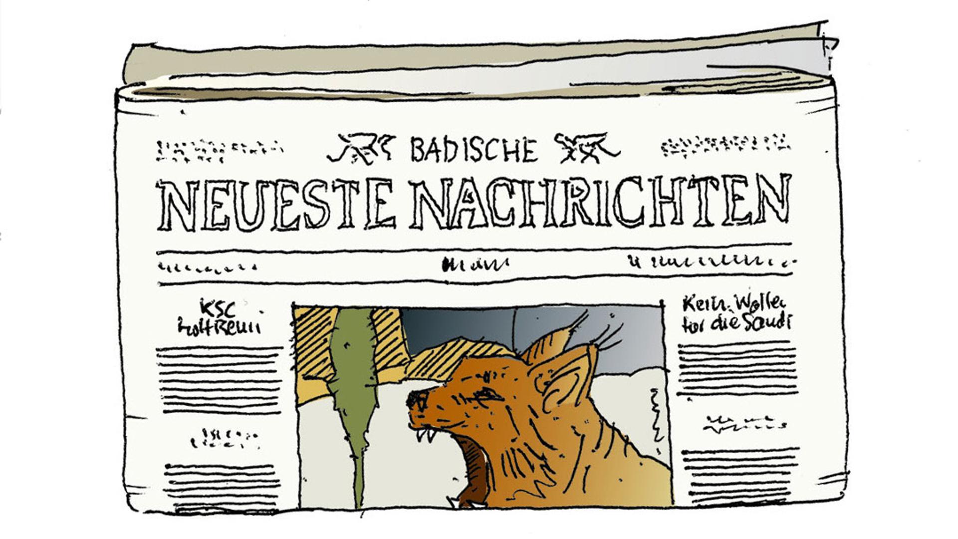 Illustration der Abläufe im Newsroom der Badischen Neuesten Nachrichten: So entstehen Zeitung und bnn.de.