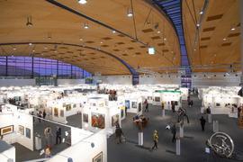 Blick in Halle 3, art Karlsruhe 2019