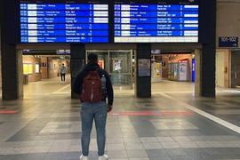 Bahnstreik Karlsruher Hauptbahnhof