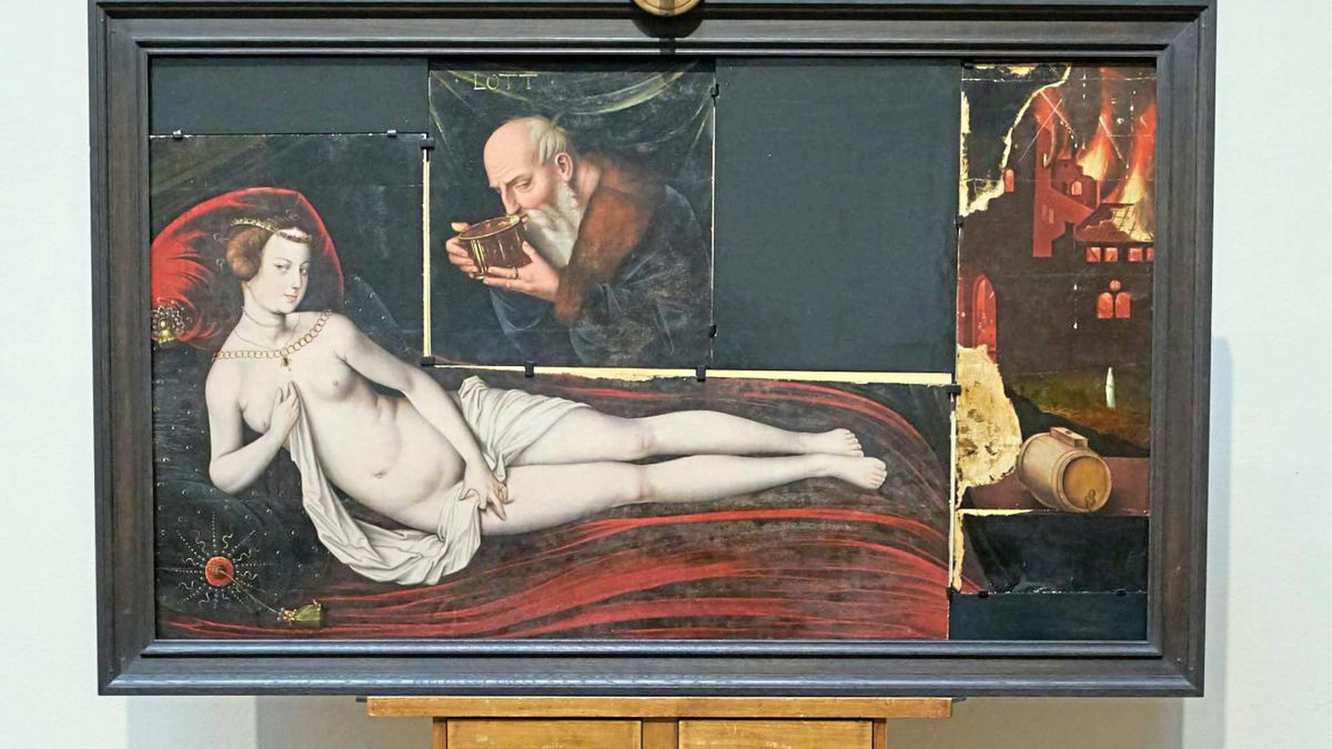 """Hans Baldung Griens """"Lot und seine Töchter"""" wurde mit Hilfe der Ernst von Siemens Kunststiftung für Karlsruhe erworben."""