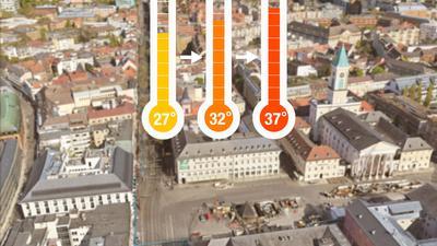 Je nach Verlauf des Klimawandels könnte es in Karlsruhe deutlich heißer werden.