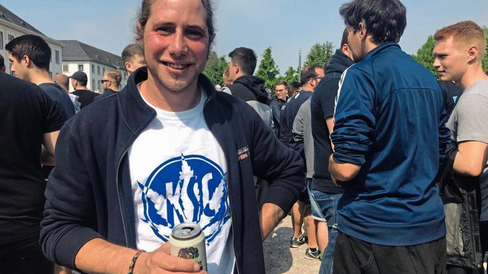 KSC-Fan Dominik aus Gernsbach.