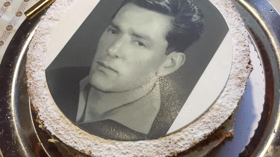 Rainer Obert feierte kürzlich noch mit der ganzen Verwandtschaft den 80. Geburtstag seines Vaters Theo. Die Torte zierte dessen Konterfei aus jungen Jahren.